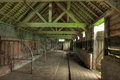 Cowshed england interior view of old worcestershire Stock Photography