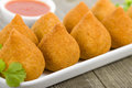 Coxinha de galinha brazilian deep fried chicken snack popular at local parties Royalty Free Stock Photo