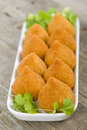 Coxinha de galinha brazilian deep fried chicken snack popular at local parties Stock Photography