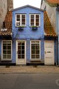 Cozy blue house Royalty Free Stock Photos
