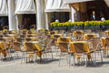 Cozy cafe on the street of budva montenegro Stock Photography