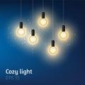 Cozy lightbulbs illustration