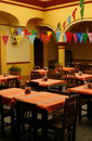 Cozy mexican restaurant. Oaxaca, Mexico Royalty Free Stock Photo