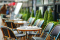Cozy outdoor cafe Royalty Free Stock Photo