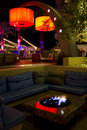 Cozy Roof Top Cocktail Bar Lounge Royalty Free Stock Photo