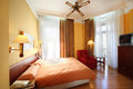 Cozy rooms at senator gran via hotel madrid march on march in madrid spain is historic building with Stock Images