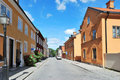 Cozy  street of Uppsala Stock Photo
