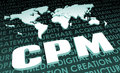 Cpm industry global standard on d map Stock Images