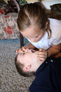 CPR Open Airway/ Rescue Breath Royalty Free Stock Photo