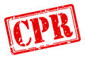 CPR red stamp text