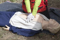 Cpr training dummy cardiac massage first aid Royalty Free Stock Image