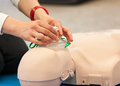 CPR training with dummy Royalty Free Stock Photo