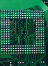 CPU - electronic circuit  background, Royalty Free Stock Photo