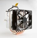 Cpu fan big advanced pc on white Royalty Free Stock Photos