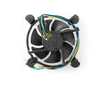 Cpu fan cooler isolated on white Stock Photos