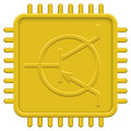 CPU icon Stock Photography