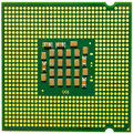 Cpu with number on white background Stock Photo