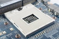 CPU socket in an angled view Royalty Free Stock Photos