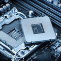 CPU socket and processor Royalty Free Stock Photo