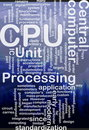CPU word cloud Royalty Free Stock Photos