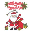 Santa Claus Cartoon Character with gifts. Merry Christmas and Happy New Year