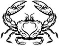 Crab Black White