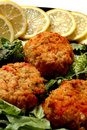 Crab cakes Royalty Free Stock Photo