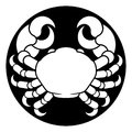 Zodiac Signs Cancer Crab Royalty Free Stock Photo