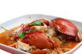 Crab in curry powder thai food Royalty Free Stock Image