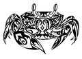 Crab in doodling style
