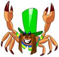 Crab in hat. Royalty Free Stock Photo