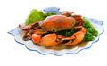 Crab isolated on the background Royalty Free Stock Photo