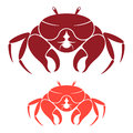 Crab isolated objects on white background vector illustration eps Royalty Free Stock Images