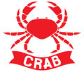 Crab label silhouette icon sign symbol Royalty Free Stock Photos