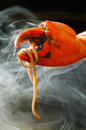 Crab legs seafood platter on background the Royalty Free Stock Image