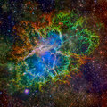 Crab Nebula. Elements of this Image Furnished by NASA
