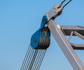 Crab pulley block as part of a lifting crane Royalty Free Stock Photography