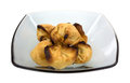 Crab rangoons in bowl Royalty Free Stock Images