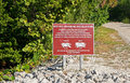 Crab Refuge Sign, Florida Royalty Free Stock Photos