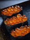 Crab Roe sushi Royalty Free Stock Photo