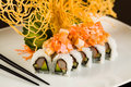 Crab and Salmon Roll Royalty Free Stock Photo