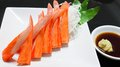 Crab stick and wasabi shoyu japanese food style Royalty Free Stock Images
