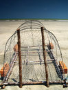 Crab Trap on Beach Stock Images