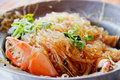 Crab and vermicelli. Stock Photography
