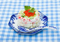 Crabbing Salad with red caviar Stock Image