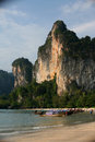 Crabi thailand rocs boats coast Stock Photography