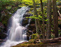 Crabtree falls in george washington national forest in virginia the lowest waterfall cascade of nelson county located off of the Royalty Free Stock Images