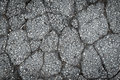 Crack asphalt road surface texture Royalty Free Stock Photo