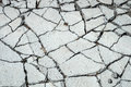 Crack concrete old gray floor Royalty Free Stock Image