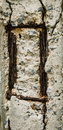Crack concrete pole  background Royalty Free Stock Photo